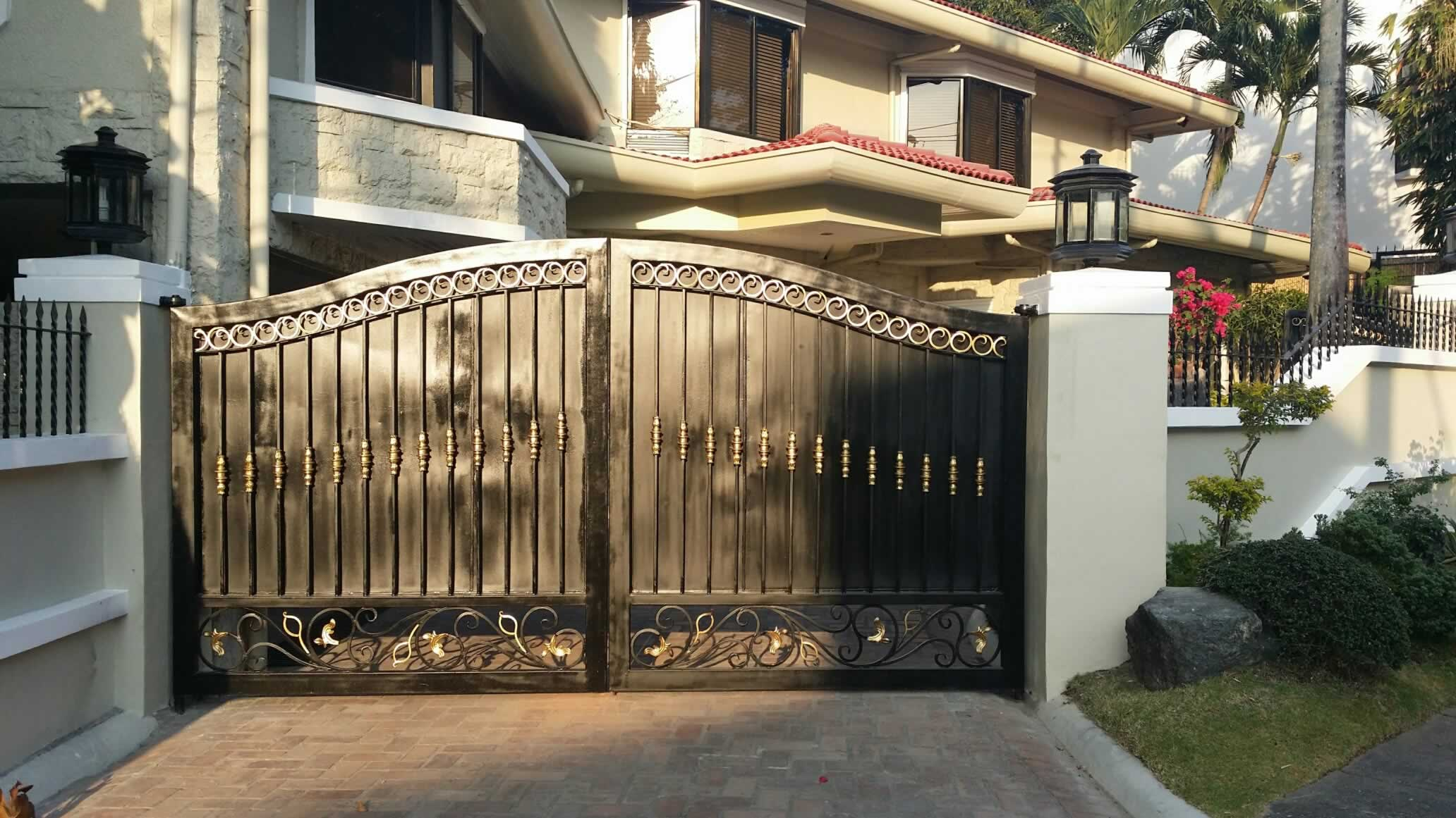 Wought Iron Entrance Gate, Pedestrian Gate.