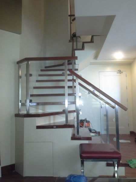 Stair Glass Clear Tempered