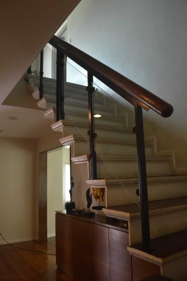 Glass Stair Railing in Stainless Frame