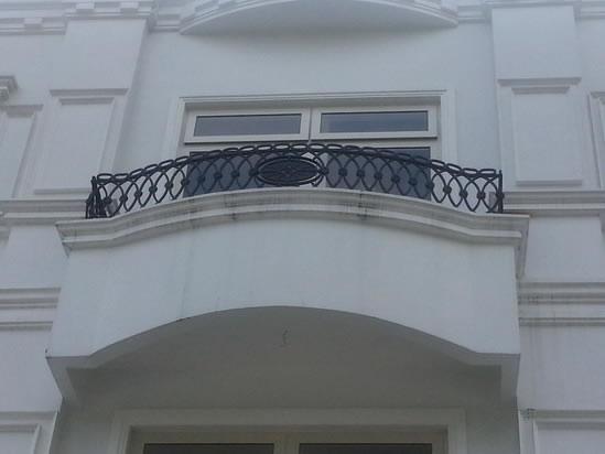 False balcony mediterranean grills cavitetrail glass for Terrace railings design philippines