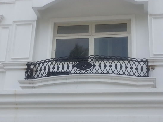 False balcony mediterranean grills cavitetrail glass for Terrace railings design philippines