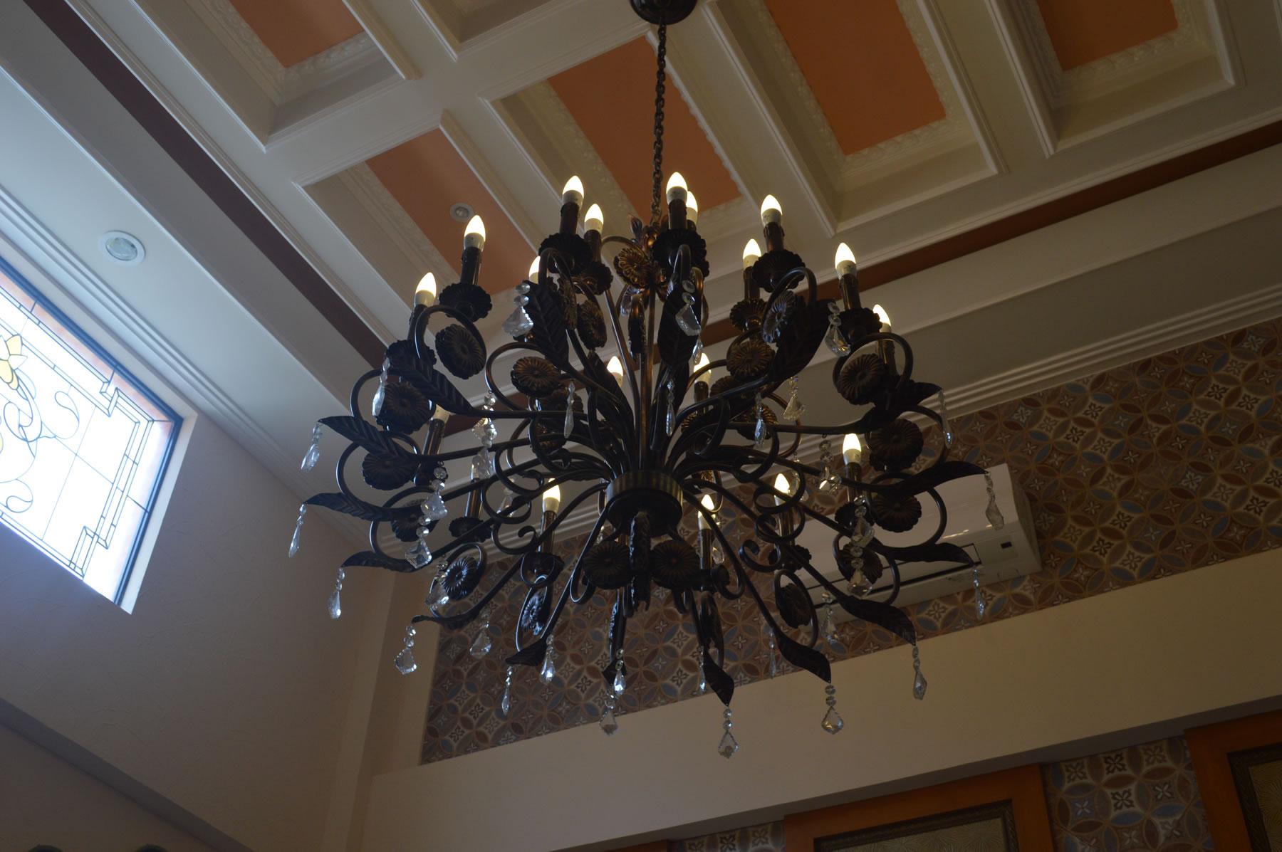 Candle Light Chandelier Cavitetrail Glass Railings
