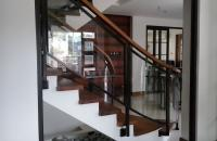 Clear Tempered Glass with Wrought Iron Frame