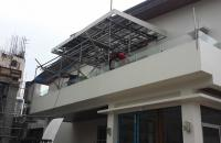 Glass Stair Railings Philippines in Metal Frame