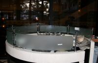 Counter Top Curved Glass with frosted