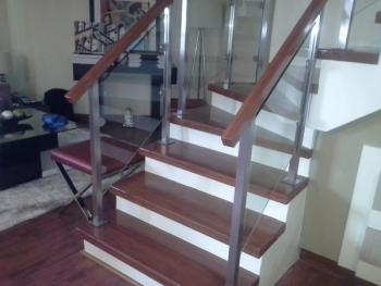 Glass Stair Railing Stainless Frame