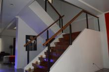 Glass Wrought Iron Railing